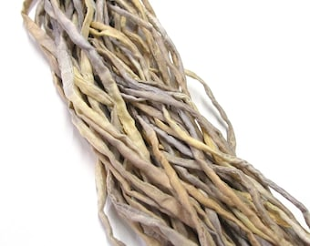 5YD. COUNTRY ROADS  2MM or 4MM Hand Dyed Silk Cord//5YD. Hand Dyed Silk Cording //2MM & 4MM cording can be threaded onto memory wire