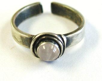 Rose Quartz, Toe Ring, gemstone toe rings, stone of love, wedding, bridal party accessories, symbolic jewelry