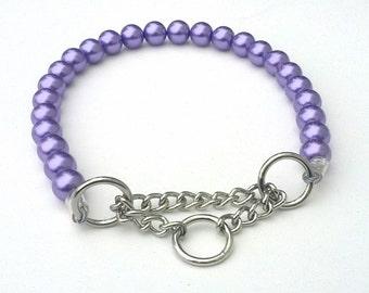 Chunky Deep Purple Pearl Dog Collar, Buckle Collars, Martingale Collars, Dog Pearls UNBREAKABLE GUARANTEE!