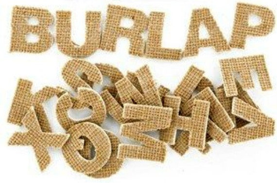 Burlap Letters Adhesive Burlap Stickers Wedding Decor Banner Letters ...
