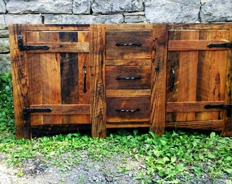Free Shipping! Rustic Bathroom Vanity from Reclaimed Wormy Chestnut