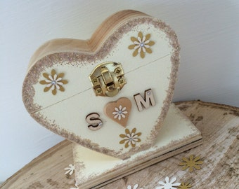 Personalised Heart Shaped Wish Tree Tag Holder, For Your Wedding Reception Plus 50 Wish Tree Tags