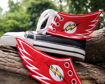 The Flash Lightning Bolt - Embroidered Shoe Wings - MTCoffinz