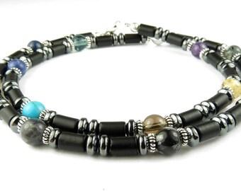 AA Jewelry: Black Onyx Necklace, Recovery Jewelry, AA Gifts, 12 Step Jewelry, Sobriety Jewelry, Twelve Step Gifts
