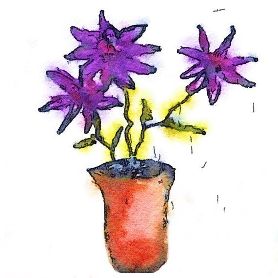 Tomoe River Insert - Purple Flowers - Travelers Notebook Insert - Retiring Soon