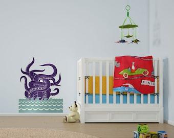 Sea Monster Vinyl Wall Art Sticker by Greg Mably