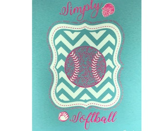 Simply Softball Tee~Aqua