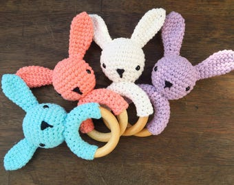 Bunny Rattle & Teether