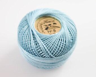 Perle Cotton Thread | Finca Presencia Pearl Cotton, Embroidery Thread - Light Blue (3556)