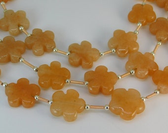 Aventurine beads flower shape - 15mm - STK-36-GLSB-02