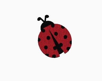 INSTANT DOWNLOAD Ladybug embroidery design