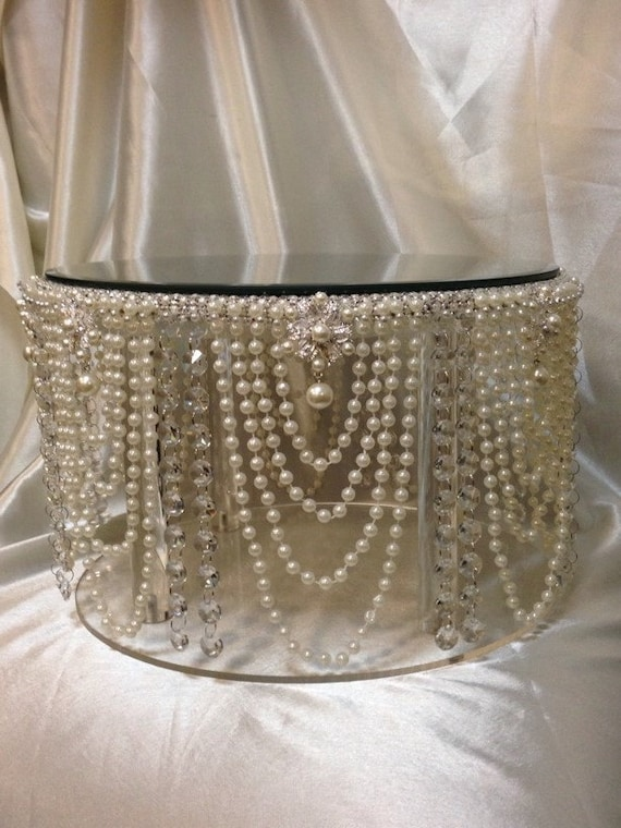 Vintage Inspired Pearl Crystal Design Wedding Cake Stand All Sizes Round And Square