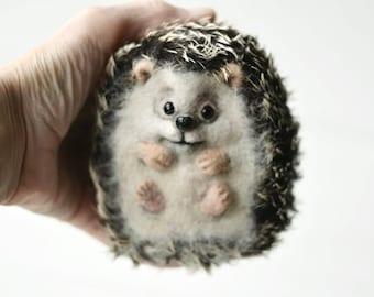 Cute hedgehog Felting hedgehog Toy Animal hedgehog Miniature hedgehog Needle felt hedgehog OOAK hedgehog Beautiful hedgehog Funy hedgehog