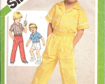 Simplicity 9888  Child's Shirt and Pull-On Pants or Shorts   ID226