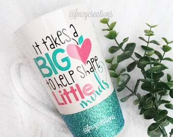 PERSONALIZED End of the year teacher gift | Big Heart Teacher mug | Gifts Teacher Coffee Mug | Teacher Mug Gifts for Her | Teacher Gift