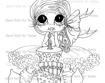 INSTANT DOWNLOAD Digital Digi Stamps Big Eye Big Head Dolls Birthday Bestie My Besties By Sherri Baldy