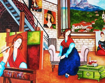 Art Print, Modigliani Print, Paris Print, Wall Decor, Art Poster, Art Prints