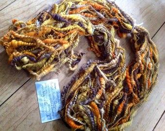 QueenBee I  - 4.2 ounce 80 yards of Beehive & Bubble Art Yarn handpainted hemp merino