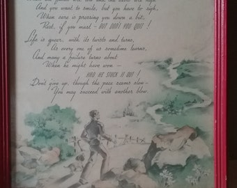 Keep Going 1920s Inspirational Poem By Edgar A Guest