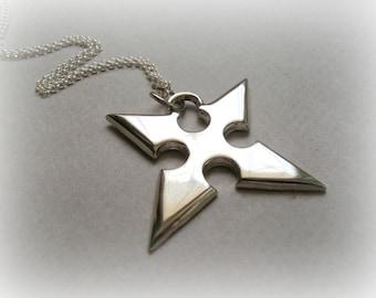 Roxas Necklace Sterling Silver - Kingdom Hearts Jewelry - Kingdom Hearts Sterling Silver Jewelry - The Key of Destiny Necklace Silver