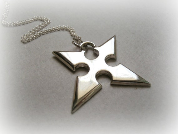 Roxas necklace sterling silver kingdom hearts jewelry aloadofball Gallery