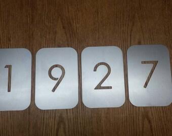 "7"" Steel plate mailbox/address numbers"