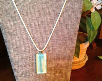 Watercolor Necklace/Sunset Collection /Rectangle