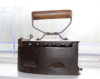 Antique Charcoal Iron 1800s Sad Iron