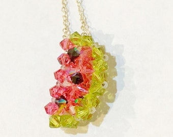 swarovski WATERMELON Necklace