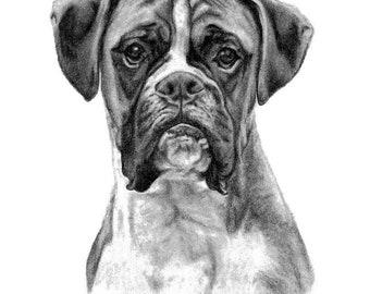 Pet Portrait Custom Portrait Pet Memorial Boyfriend Gift