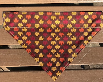 Fall Leaf Over-the-Collar Bandana