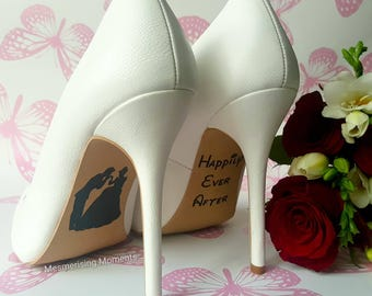 Wedding Shoe Decal Sticker / Cinderella / Happily Ever After / Love / Marriage