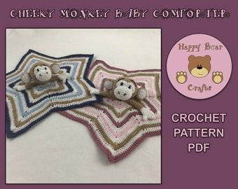 Cheeky Monkey Baby Comforter