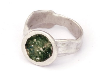 Gemson - Cast Solid Silver Ring with Enamel