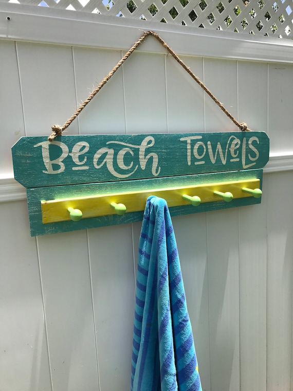 Beach Towel, Beach Towel Rack, Beach Towel Hooks, Beach Towel Holder, Pool Towel Rack, Pool Towel, Pool Towel Hooks, Pool Signs, Pool Decor