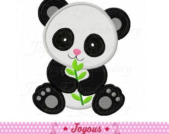 Instant Download Panda Applique Machine Embroidery Design NO:2005