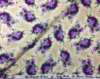 The Language of Love Violets Cindy Brick Marcus Bros Fat Quarter or more