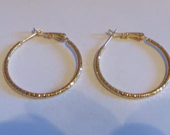 18k Large Gold Filled Earrings Statement Hoops Large Hoop Earrings Gold Earrings Large Gold Hoops Large Hoops Gold Hoop Earrings