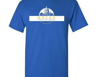 Boise City Flag T Shirt - Royal