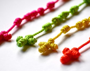 Neon Hand-Knotted Rosaries -- #36 Twine