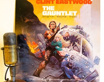"""Clint Eastwood Movie Soundtrack 1970s Police Drama Thriller Jerry Fielding Music w/Guest Art Pepper """"The Gauntlet"""" (1978 WB records)"""