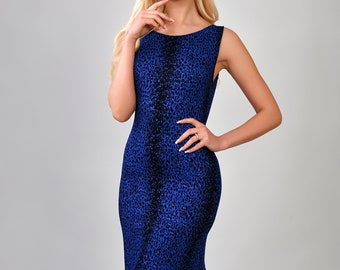 Sparkling,blue tango dress, with glitter. Evening Dress, Cocktail Dress. Product Code: 639