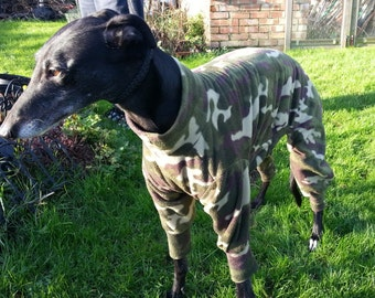 Greyhound & Whippet Pyjamas In the Army Now