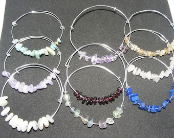 Crystal Expandable Silver Bangles - Crystal Expandable Gold Bangles - Crystal Bangles - Bangles - Bracelets - Jewellery - Jewelry