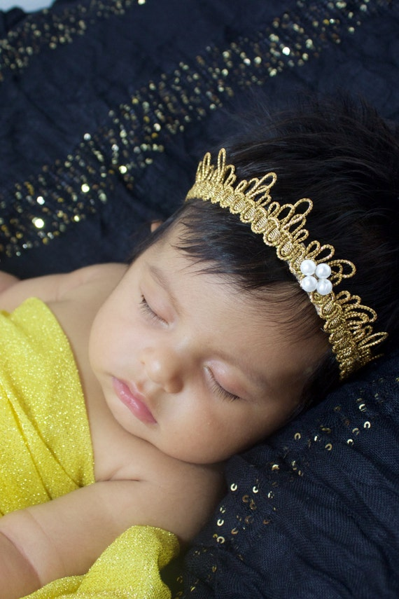 Baby Crown, Gold Crown, Baby Headband, Toddler Crown, Baby Girls Crown, Infant Crown, Crown for Babies, Crown Baby girls