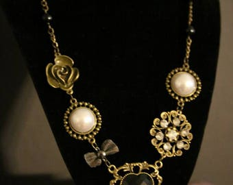 Rustic Gold Charm Necklace