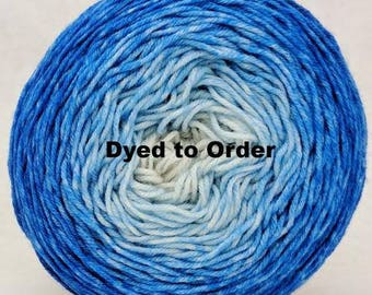 Tangled Up In Blue Chromatic Gradient, dyed to order - pick your yarn and yardage!
