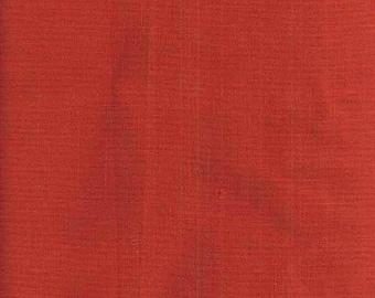 Tissu coton uni couleur rouille - Tissu pour patchwork et/ou loisirs créatifs.