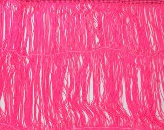 """Néon rose Chainette Fringe 12"""" Trim, Costumes de danse, clapet frange, décoration, couture fournitures de garniture, Pompon, Fluorescent, par la Cour"""
