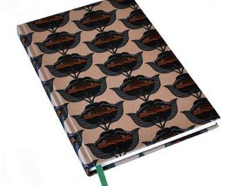 A5 Silk Notebook / Silk Journal / Floral Notebook / Mothers Day Gift / Lined Journal